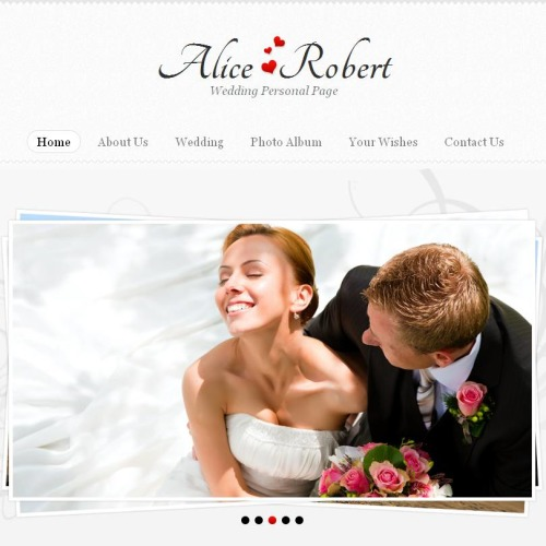 Alice Robert - Facebook HTML CMS Template