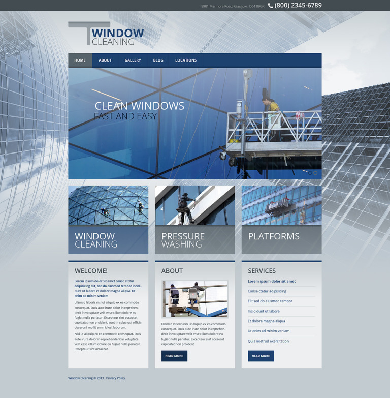 Window Cleaning Responsive Website Template New Screenshots BIG
