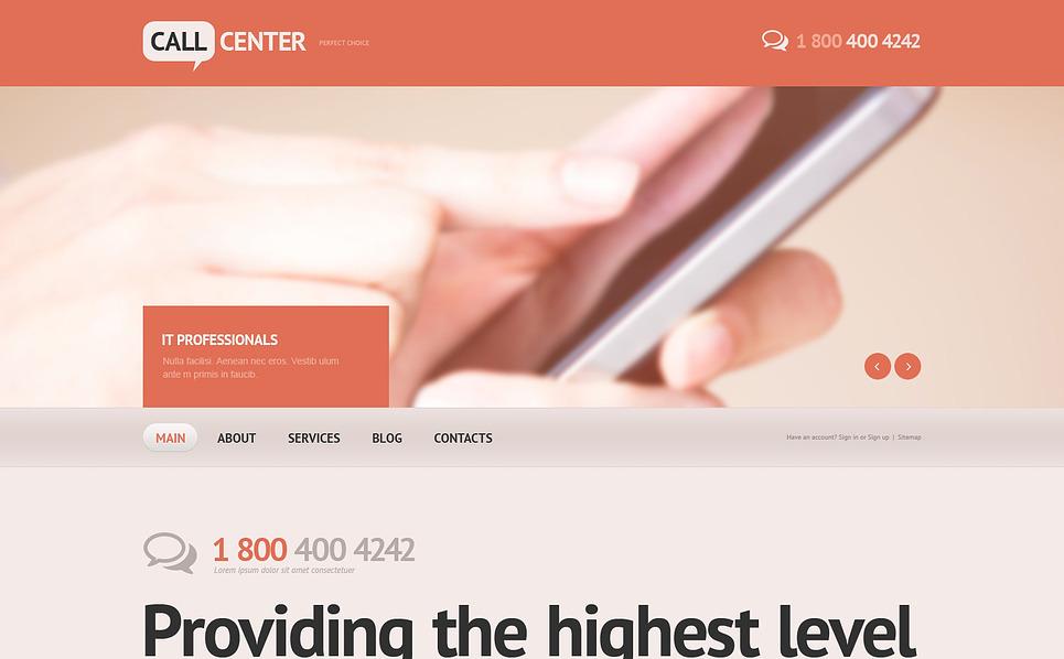 Responsive Website template over Call Center New Screenshots BIG