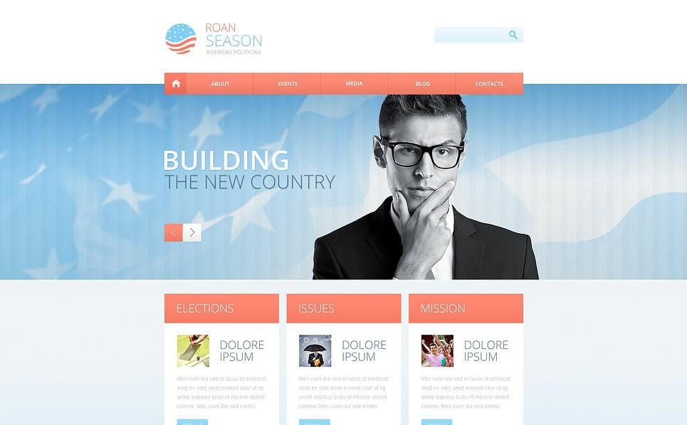 Responsive Website template over Politieke Kandidaat  New Screenshots BIG