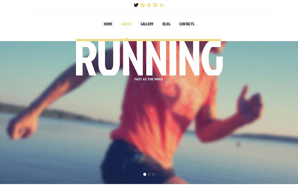 Responsywny szablon strony www #45416 na temat: bieganie New Screenshots BIG
