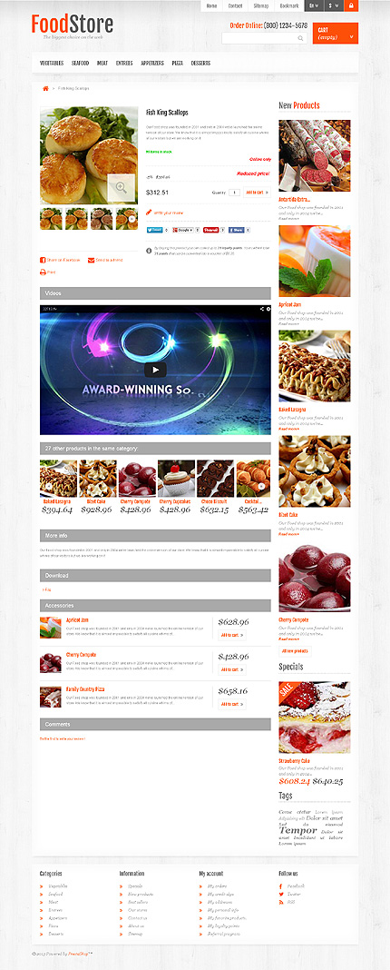 ADOBE Photoshop Template 45425 Home Page Screenshot