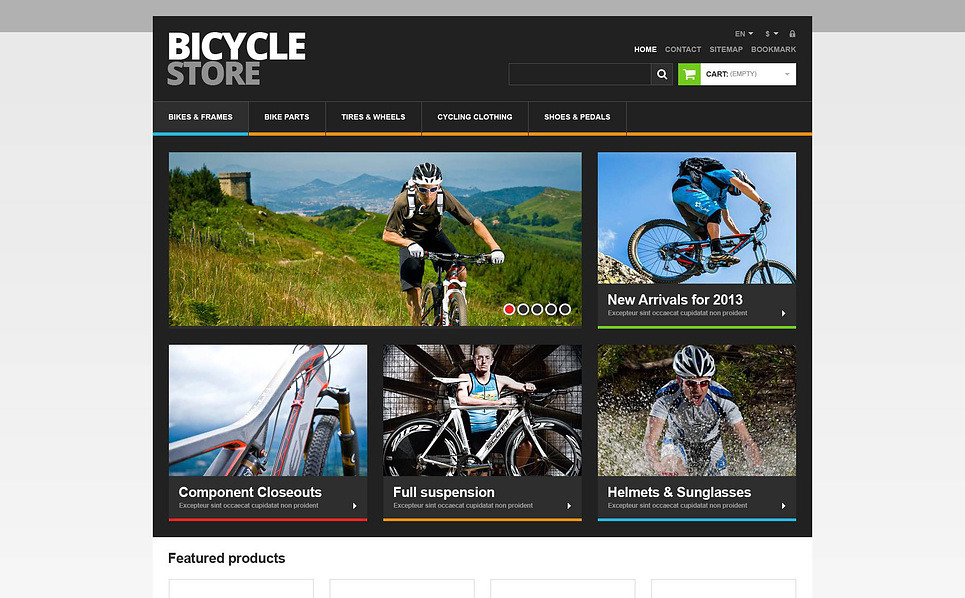 Tema PrestaShop Responsive #45426 per Un Sito di BMX New Screenshots BIG