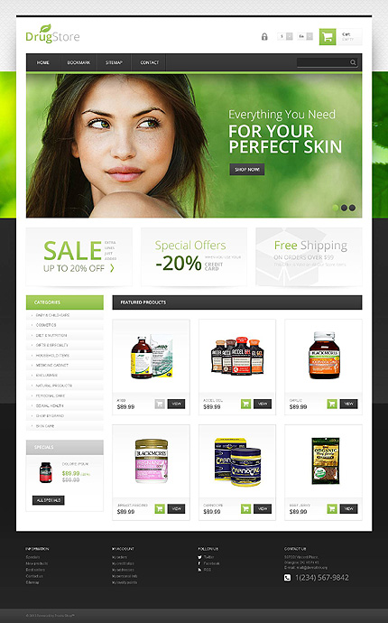 ADOBE Photoshop Template 45427 Home Page Screenshot