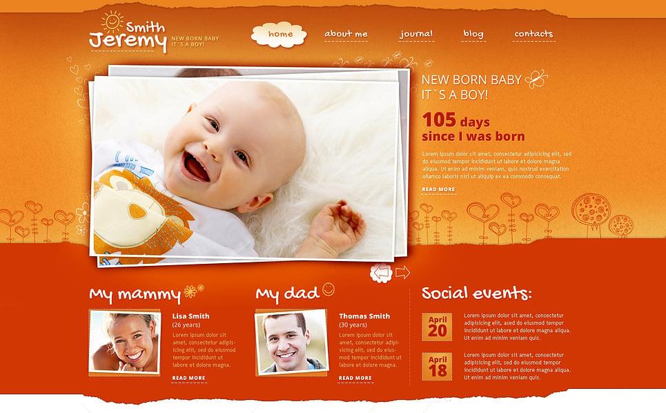 Responsive Website template over Pasgeborenen New Screenshots BIG