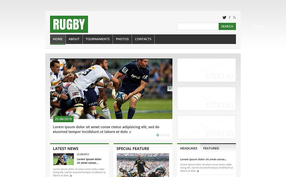 Template Web Flexível para Sites de Rugby №45434 New Screenshots BIG