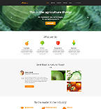 Agriculture Website  Template 45436
