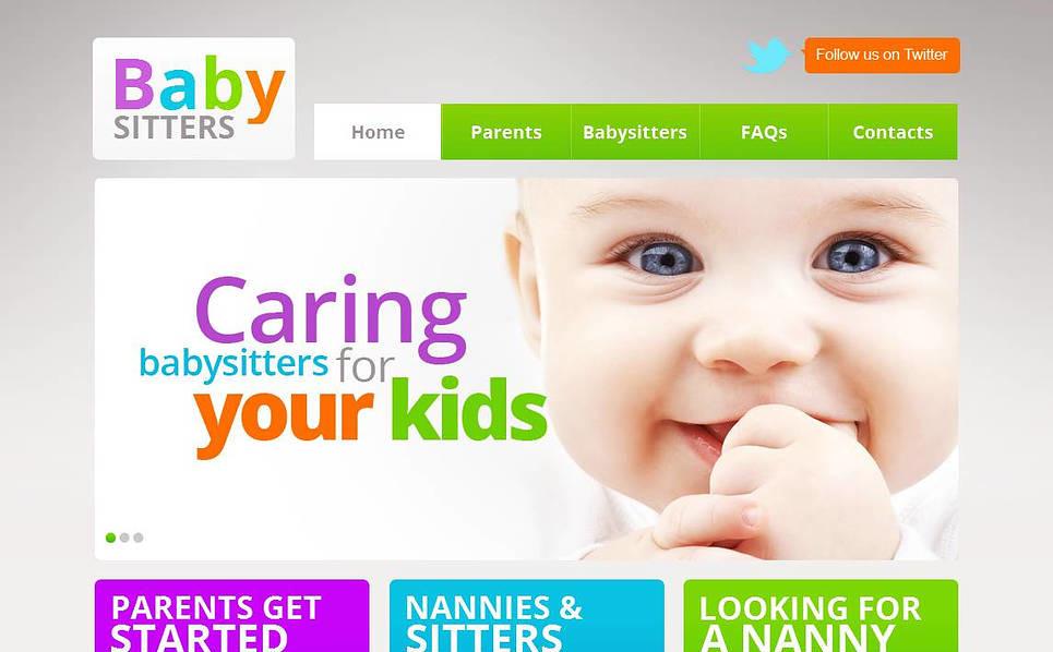 Luxusní Moto CMS HTML šablona na téma Domácí opatrovnice dětí New Screenshots BIG