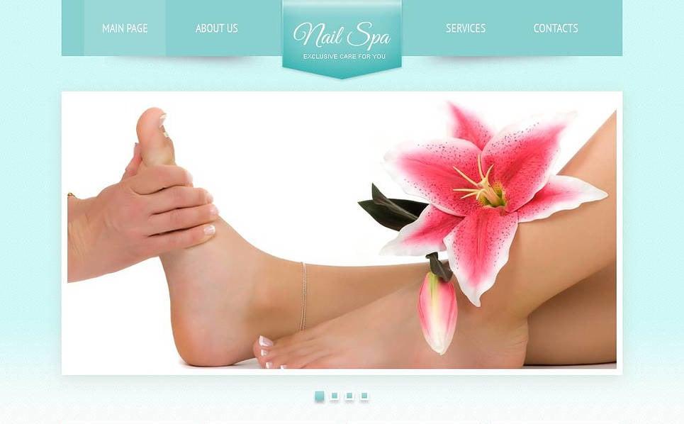 Szablon Moto CMS HTML #45442 na temat: salon kosmetyczny New Screenshots BIG