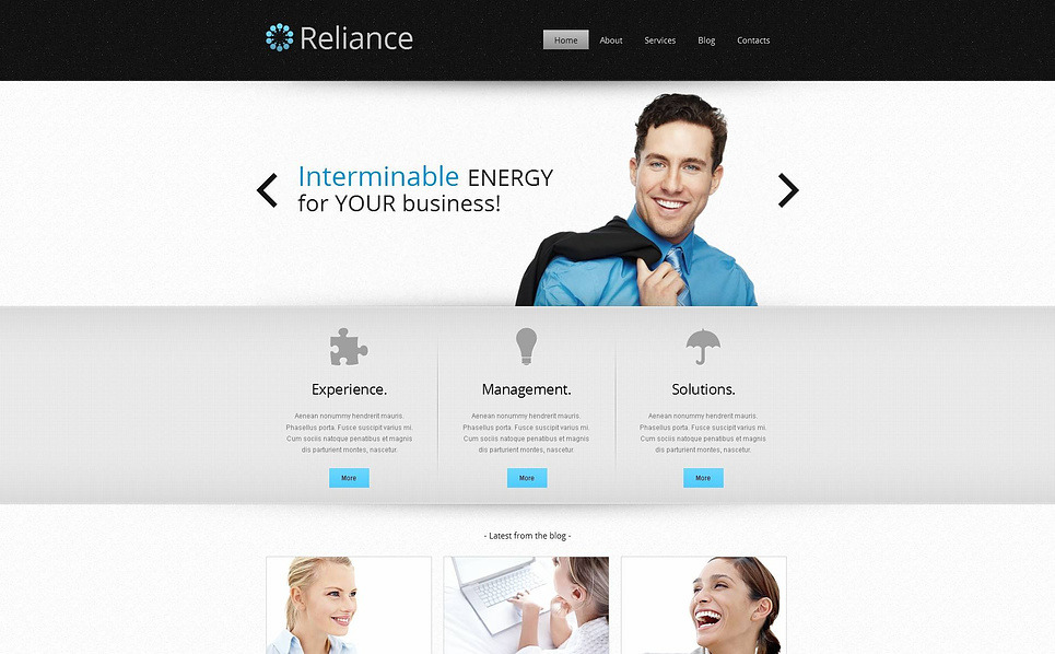 Premium Moto CMS HTML Template over Outsourcing Bedrijf  New Screenshots BIG