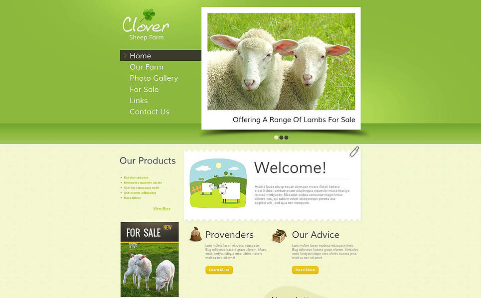 Premium Koyun Çiftliği  Moto Cms Html Şablon New Screenshots BIG