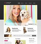 Animals & Pets Moto CMS HTML  Template 45448