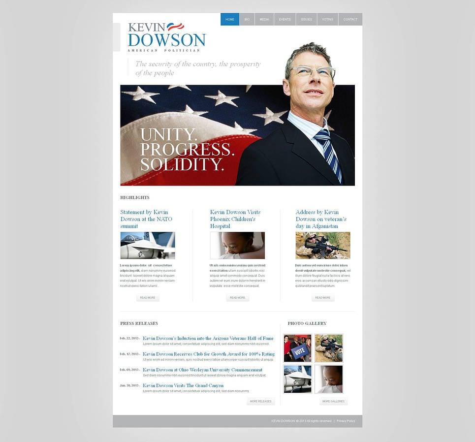Clean Style Politics Website Template - image