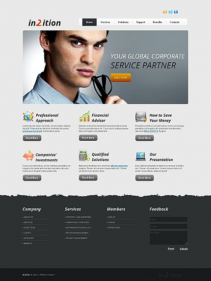 ADOBE Photoshop Template 45456 Home Page Screenshot