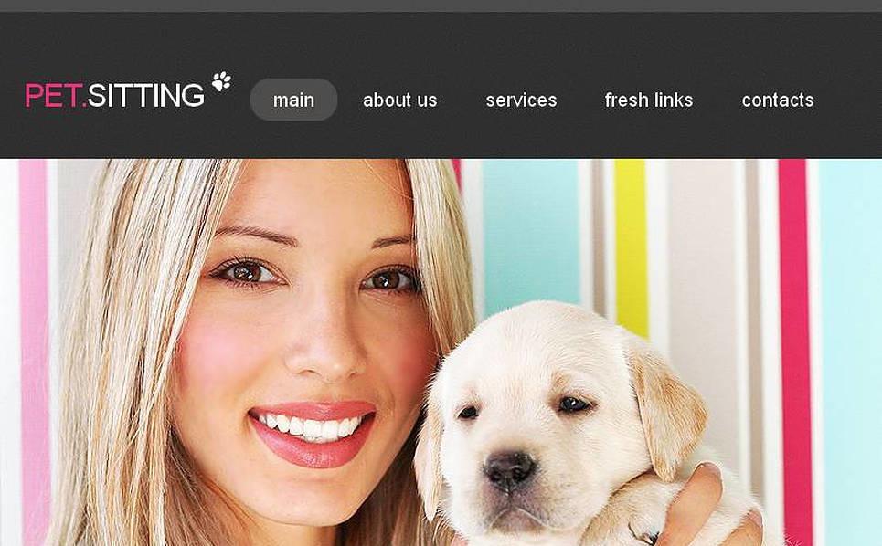 Szablon Facebook HTML CMS #45468 na temat: opieka nad zwierzętami New Screenshots BIG