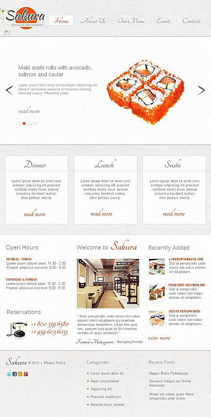 ADOBE Photoshop Template 45472 Home Page Screenshot