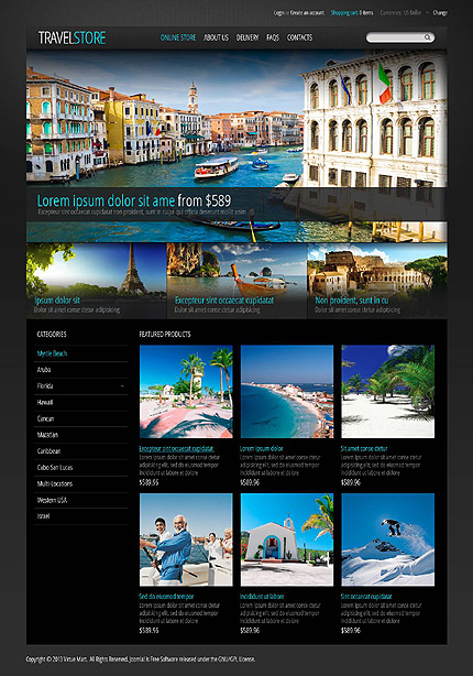 ADOBE Photoshop Template 45478 Home Page Screenshot