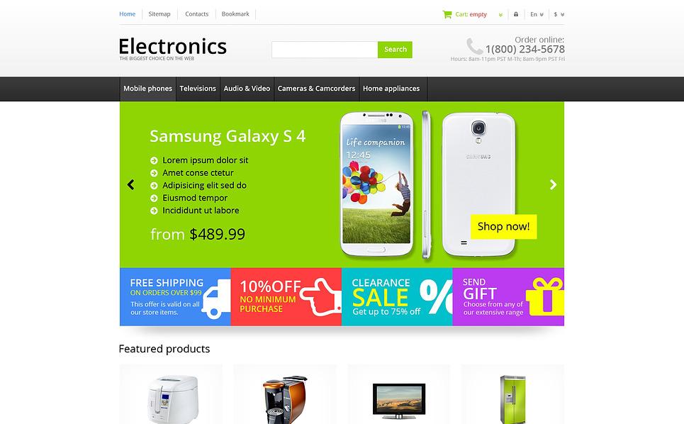 Responsywny szablon PrestaShop Responsywny sklep elektroniki #45481 New Screenshots BIG