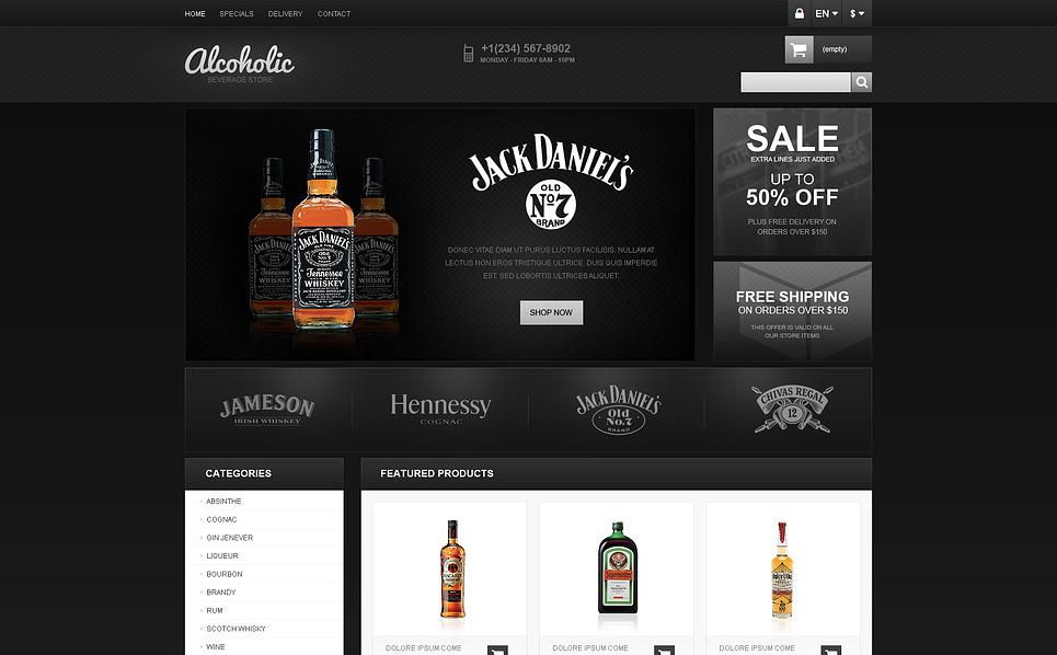 Ételek és italok  PrestaShop sablon New Screenshots BIG