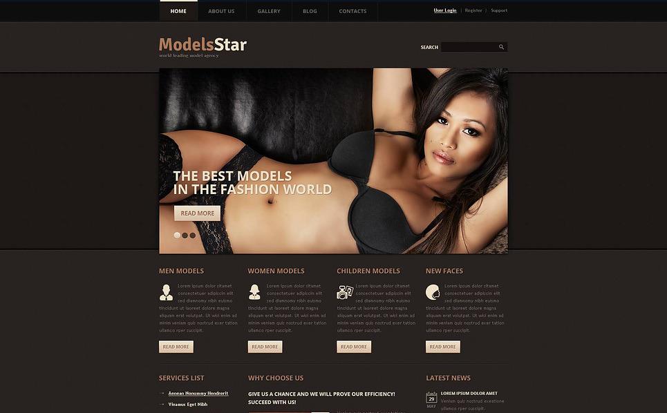 Modell portfóliók Drupal sablon New Screenshots BIG