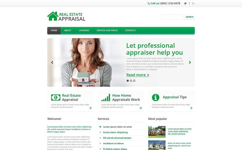 Responsive Website Vorlage für Immobilien  New Screenshots BIG