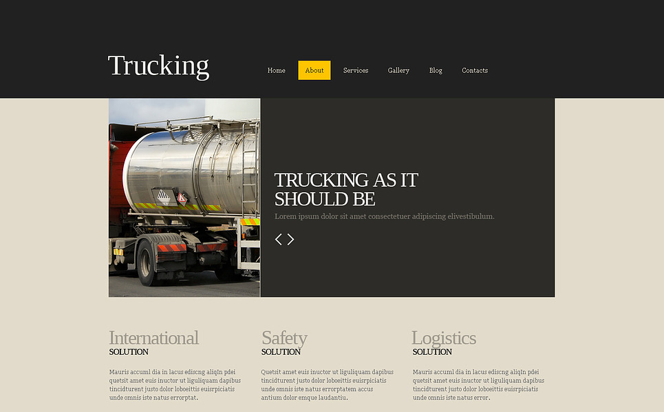Responsywny szablon Joomla #45492 na temat: transport ładunków New Screenshots BIG