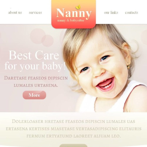 Babysitters - Facebook HTML CMS Template