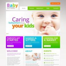 babysitter moto cms html templates