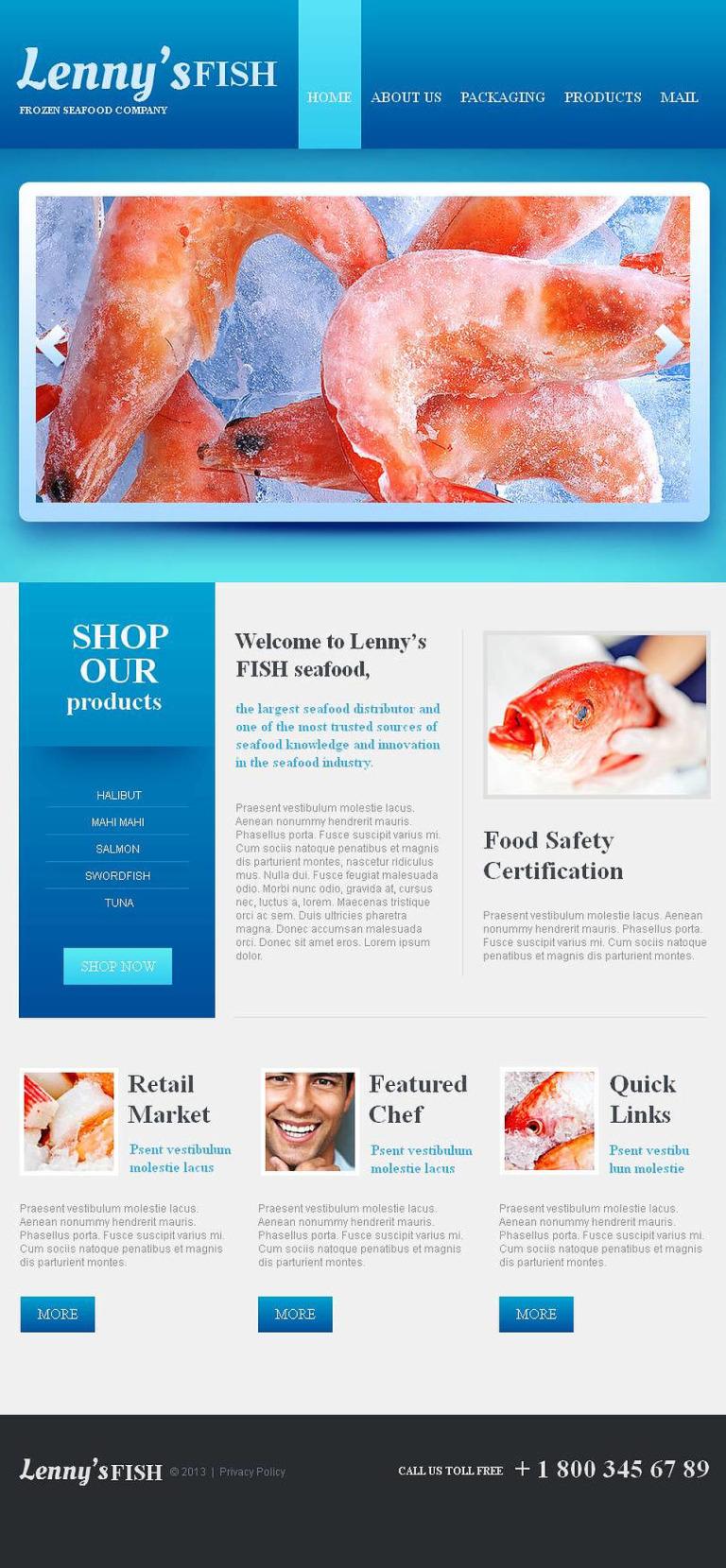 Frozen Food Facebook HTML CMS Template New Screenshots BIG