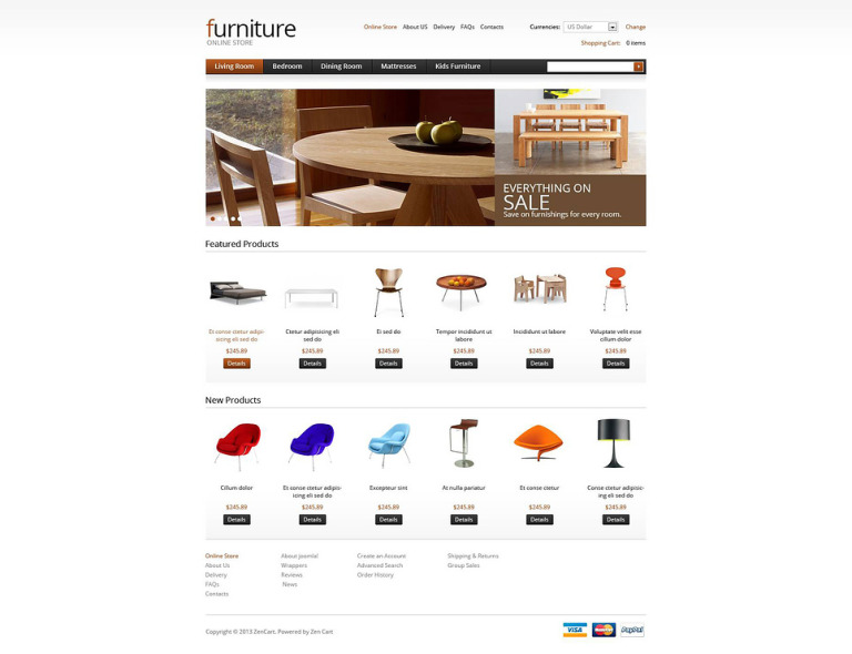 Furniture for Your Apartment VirtueMart Template New Screenshots BIG