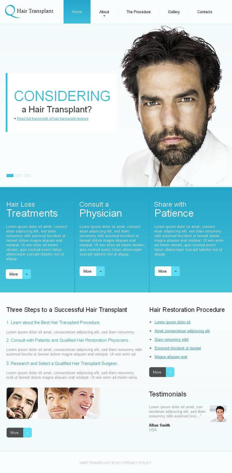 Hair Clinic Facebook HTML CMS Template New Screenshots BIG