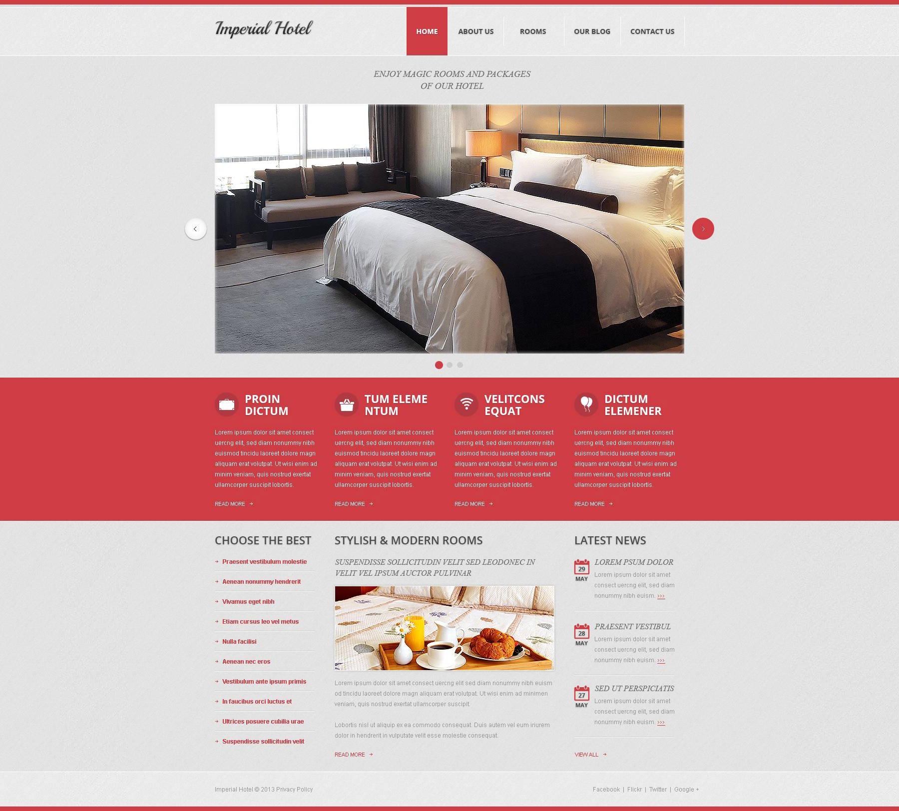 Imperial Hotel Drupal Template - screenshot