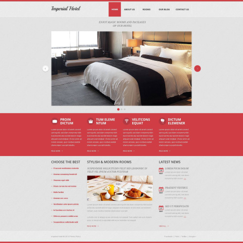 Imperial Hotel - Drupal Template