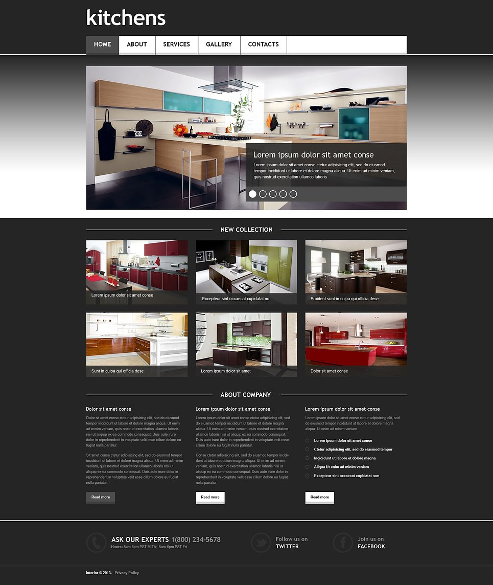 Interior Design Responsive Website Template #45404