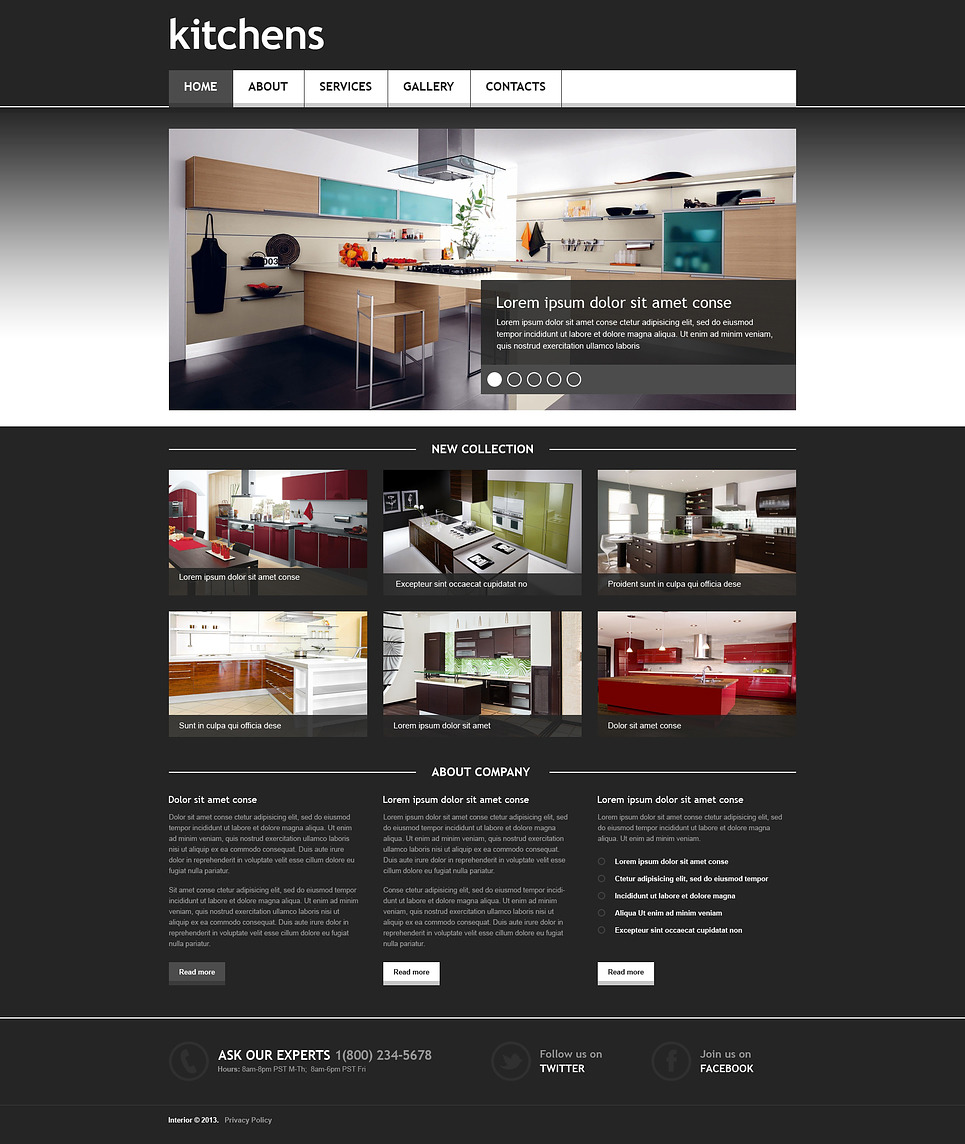 Exceptionnel Interior Design Responsive Website Template New Screenshots BIG