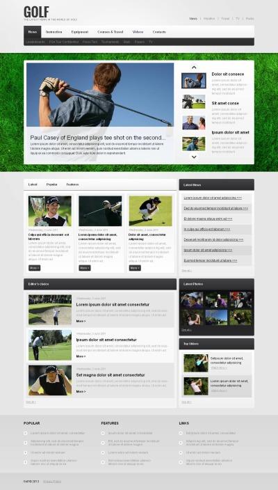 Golf Moto CMS HTML šablona