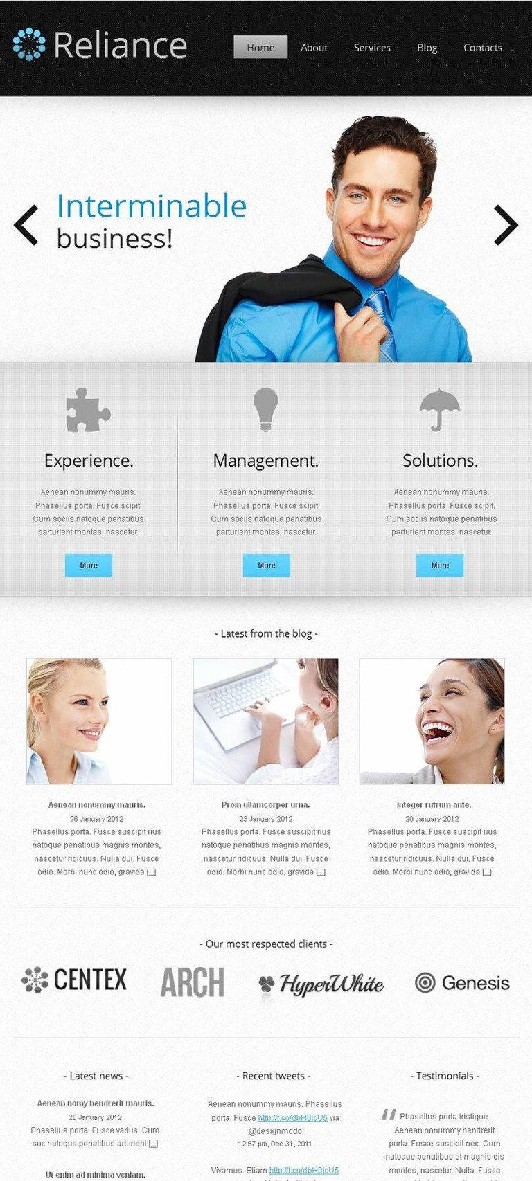 Management Company Facebook HTML CMS Template New Screenshots BIG