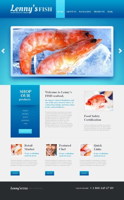 Frozen Food MotoCMS HTML шаблон