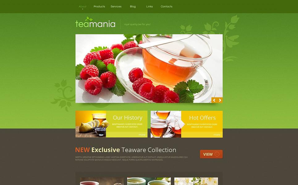 MotoCMS HTML шаблон №45447 на тему чайный магазин New Screenshots BIG