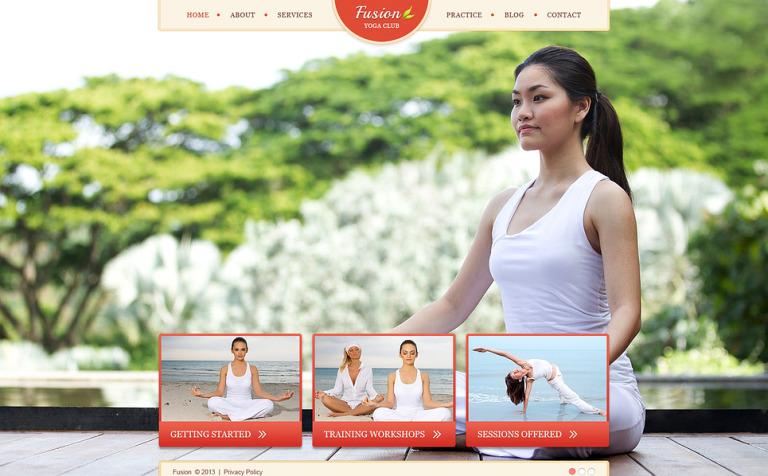 Famoso Plantillas De Sitio Web De Yoga Composición - Ideas De ...