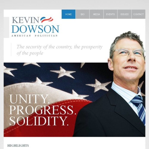 Kevin Dowson - Facebook HTML CMS Template