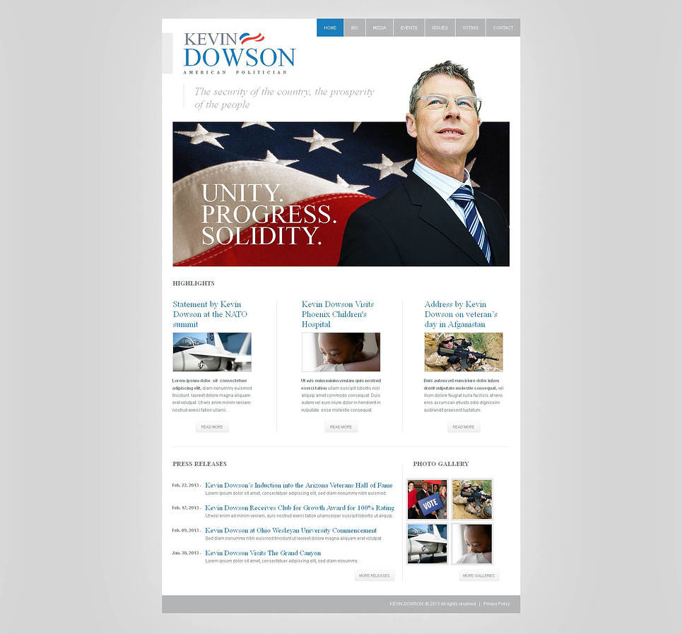 Political Candidate Moto CMS HTML Template New Screenshots BIG