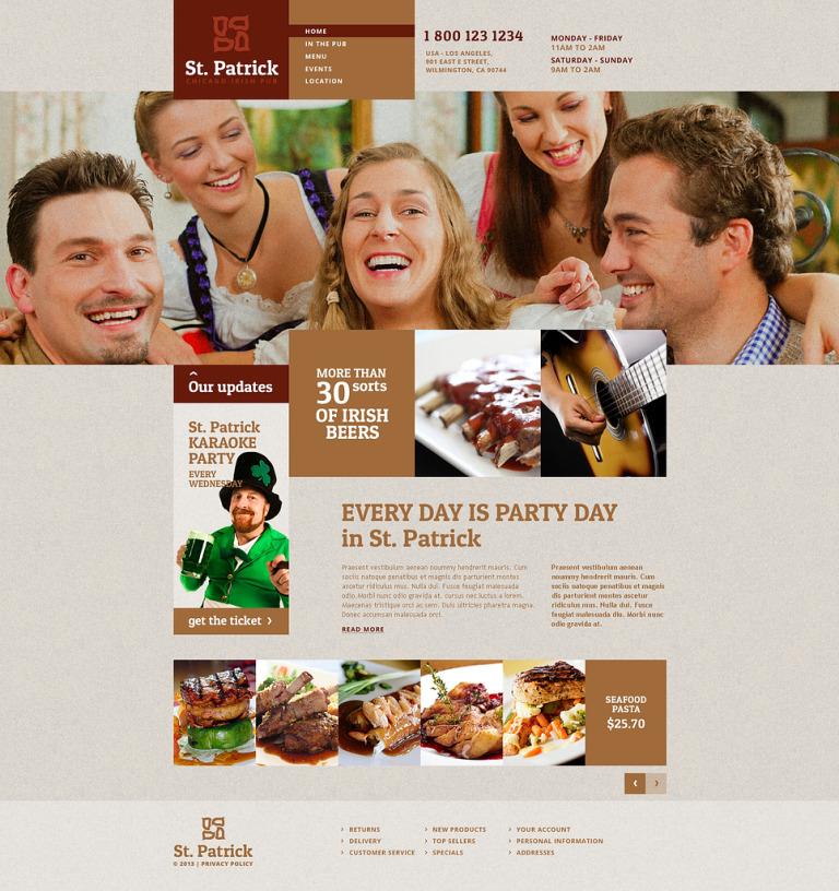 Pub Responsive Website Template New Screenshots BIG