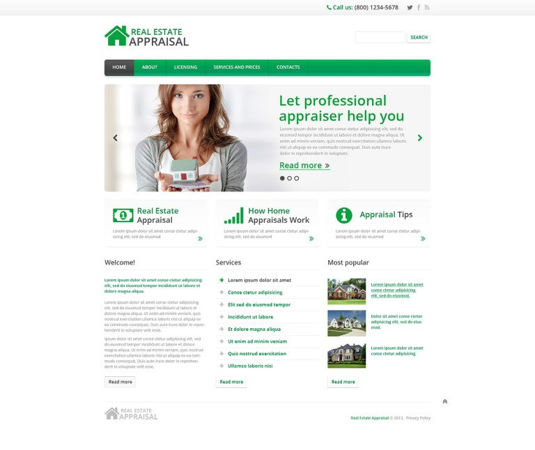 Real Estate Responsive Website Template New Screenshots BIG