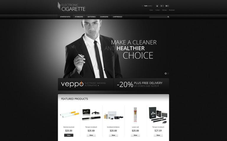 Responsive Cigarettes Store PrestaShop Theme