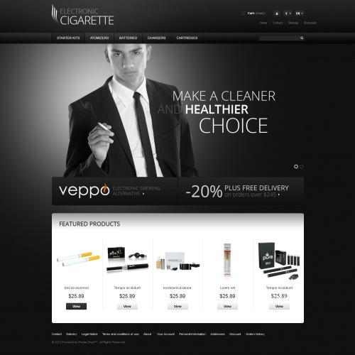 Electronic Cigarette - Responsive PrestaShop Template