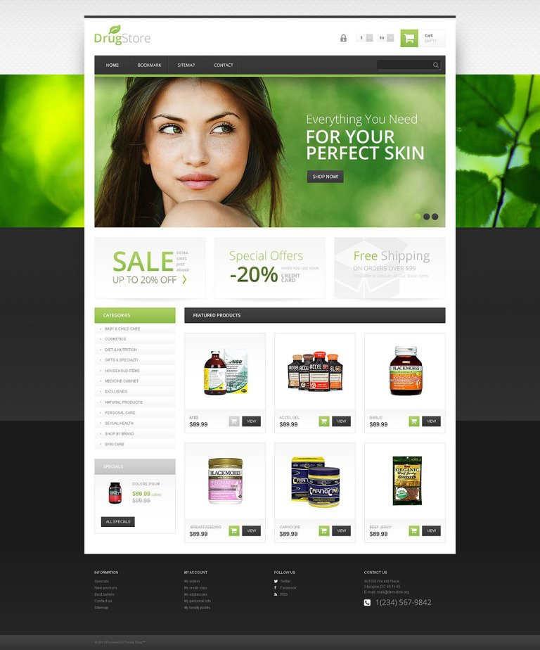Responsive Drugstore PrestaShop Theme New Screenshots BIG