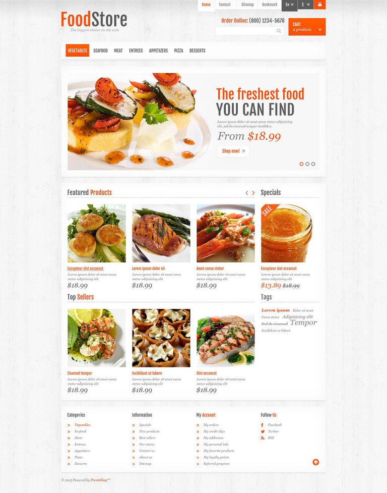 Responsive Food Store PrestaShop Theme New Screenshots BIG