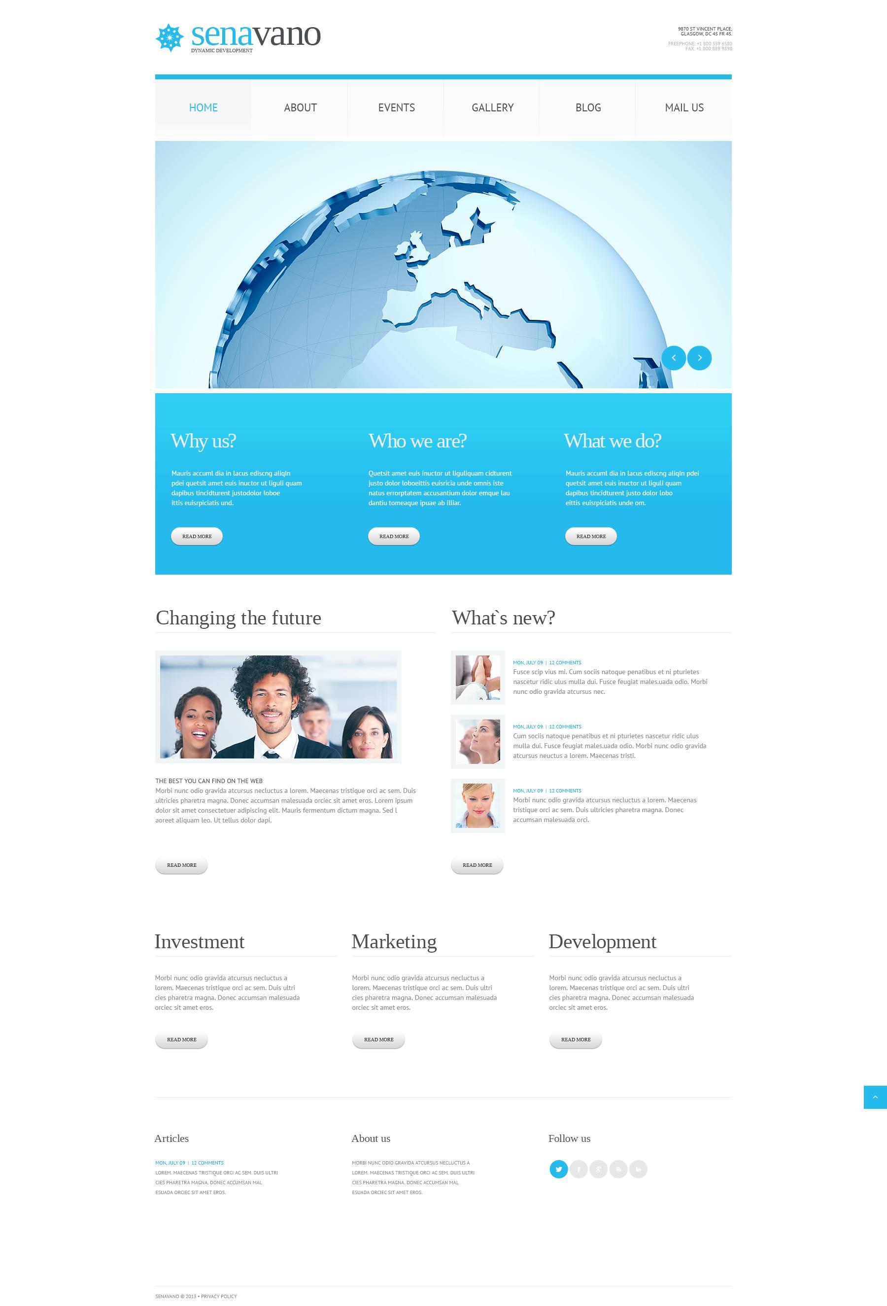 Responsive Marketing Services Wordpress #45431 - Ekran resmi