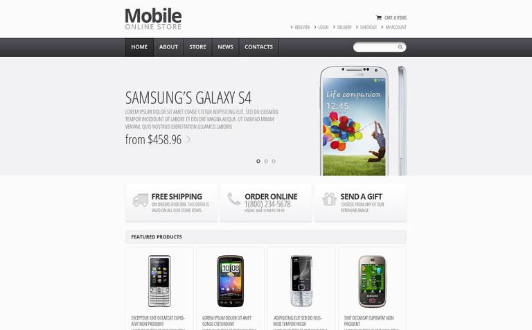 Responsive Mobile Store Jigoshop Theme